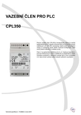Technická specifikace CPL350