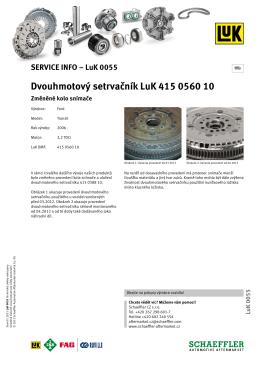 Dvouhmotový setrvačník LuK 415 0560 10