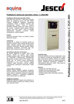 Dávkovač chlóru C2525-MH