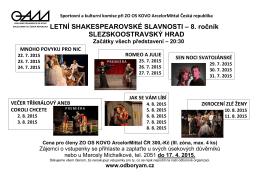 Shakespearovské slavnosti 2015 v Ostravě