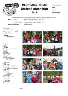 Páteční táborové noviny (10.7.2015)