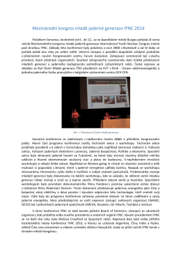 Mezinárodní kongres mladé jaderné generace IYNC 2014