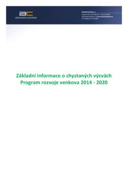 Souhrn dotačních programů