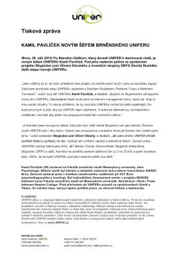 Novým šéfem UNIFERu se stal Kamil Pavlíček