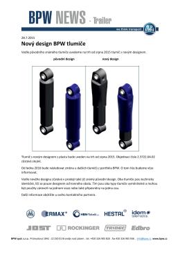 Nový design BPW tlumiče
