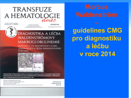 National Gudelines for Morbus Waldenström (Z. Adam)