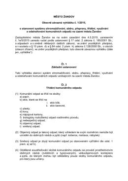 Obecně závazná vyhláška č. 1-2015