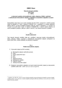 OZV - odpady 2015 schválená a vyvìšená na ÚD