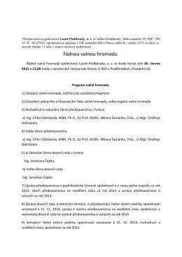 Pozvánka - Lázně Poděbrady