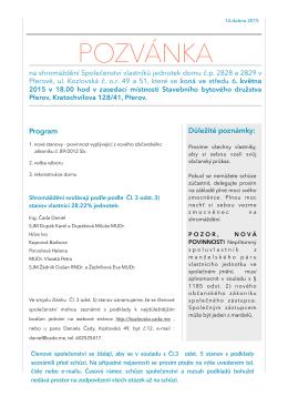 Pozvánka SVJpages.pages