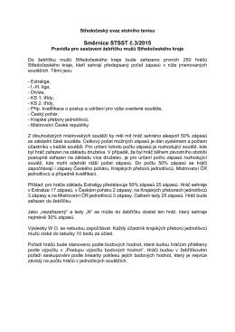 Směrnice STSST č.3/2015 - Středočeský svaz stolního tenisu