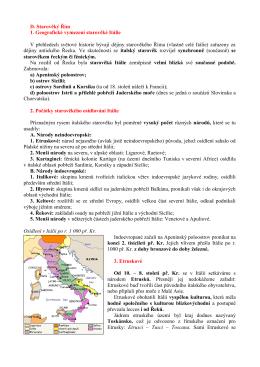 D. Starověký Řím 1. Geografické vymezení
