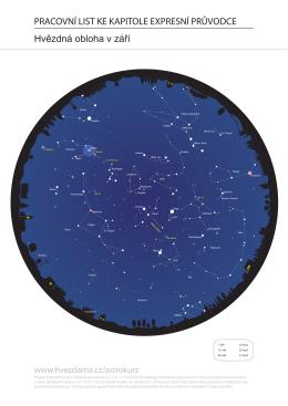 mapa hvězdné oblohy pro září - Hvězdárna a planetárium Brno