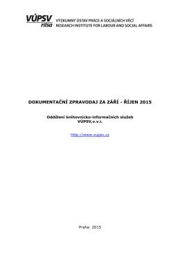 dokumentační zpravodaj za září - říjen 2015