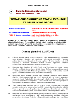 Okruhy platné od 1. září 2015 - Fakulta financí a účetnictví Vysoké