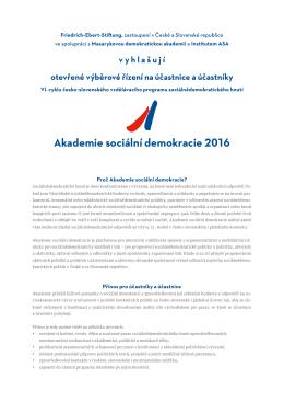 Akademie sociální demokracie 2016 - Friedrich-Ebert