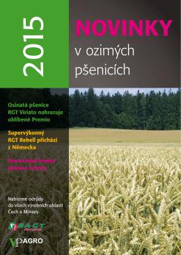 Novinky v ozimých pšenicích 2015