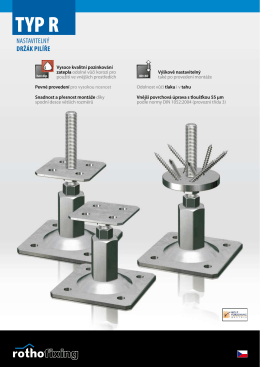 STF Typ R - nastavitelný držák pilíře