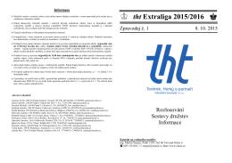 Rozpis tht Extraligy - THT extraliga družstev