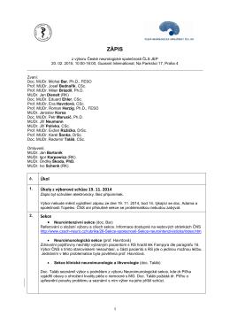 Zápis_20. 2. 2015 - Česká neurologická společnost