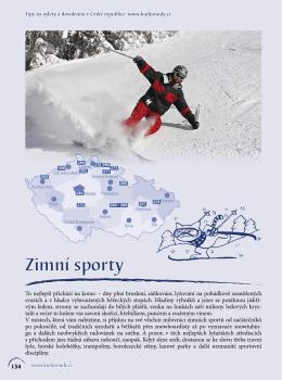 Zimní sporty - Kudy z nudy