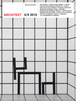 Téma o Letní škole v časopise Architekt 4–5