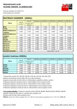 MATRACE HAMMER - JAMALL ostatní matrace JAMALL