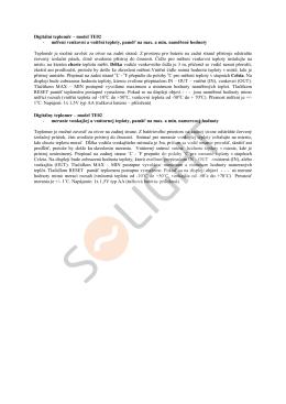 Digitální teploměr – model TE02 - měření - SOLIGHT E-shop
