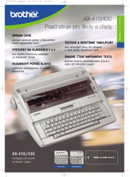 AX-410/430 dokument