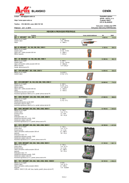 Ceník – Revizní a klešťové přístroje - Apos