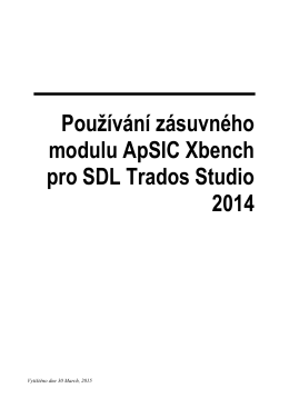 Using the ApSIC Xbench Plugin for SDL Trados Studio 2014