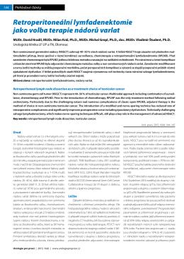 Retroperitoneální lymfadenektomie jako volba