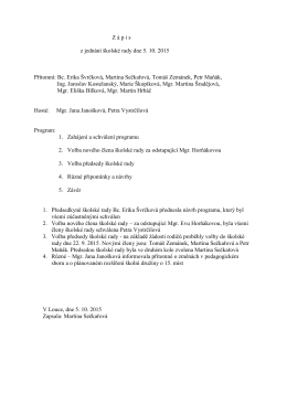 Zápis ŠR 5. 10. 2015