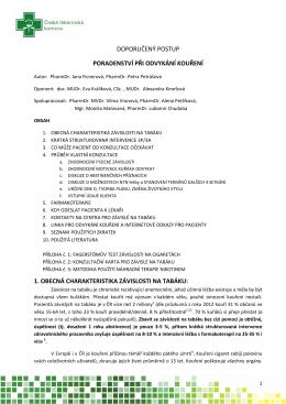 Doporučený postup České lékárnícké komory pro farmaceuty