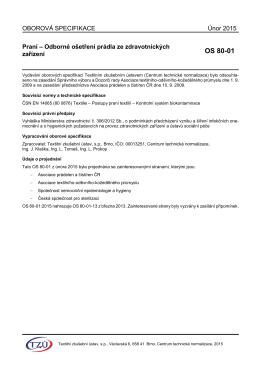 OS 80-01 - Textilní zkušební ústav