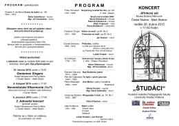 Program koncertu – první část