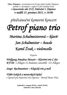 Petrof piano trio