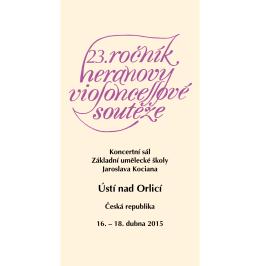 Brožura 23. ročníku Heranovy violoncellové soutěže 2015