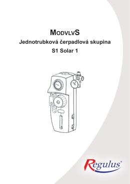 Jednotrubková solární čerpadlová skupina S1 Solar 1 - prima