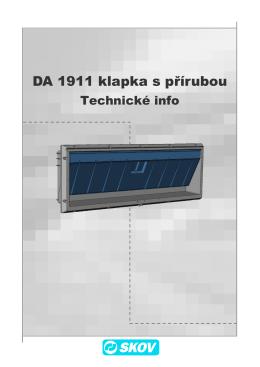 DA 1911 klapka s přírubou - SKOV-a-S