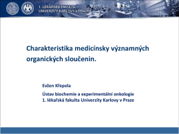 vzorců - Ústav biochemie a experimentální onkologie