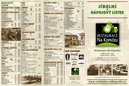 Jídelní - Restaurace Na kopečku