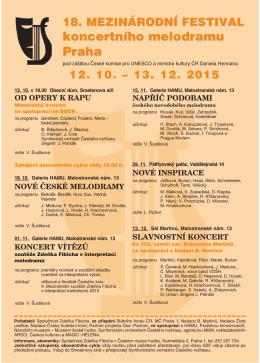 18. Mezinárodní festival koncertního melodramu 2015