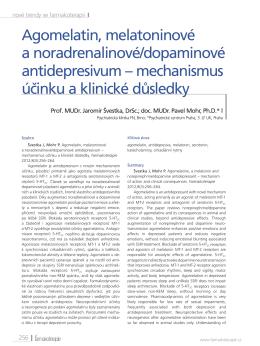 Agomelatin, melatoninové a noradrenalinové/dopaminové