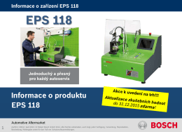 EPS 118 - diagnostika