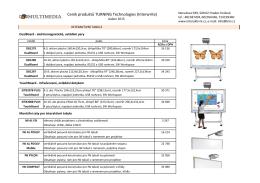 Ceník produktů TURNING Technologies (Interwrite)
