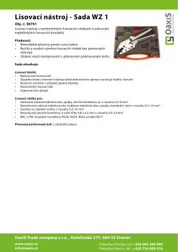 Lisovací nástroj - Sada WZ 1