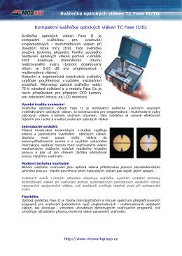 Svářečka optických vláken TC Fase II/IIc Kompaktní svářečka