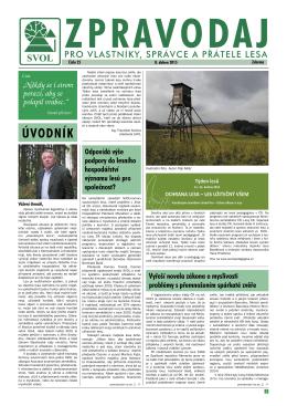 Číslo 25 - SVOL - Sdružení vlastníků obecních a soukromých lesů v