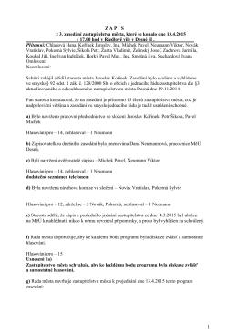 Zápis ze 3. zasedání dne 13.4.2015